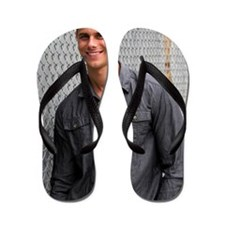 Portrait Of A Man Flip Flops