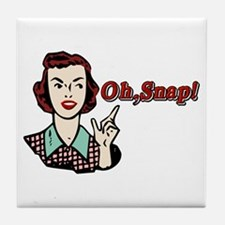Oh Snap! Retro Chick Tile Coaster