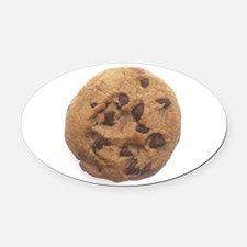Chocolate Chip Cookie Oval Car Magnet