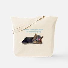 ByCatiaCho Yorkie L.Thinker Tote Bag