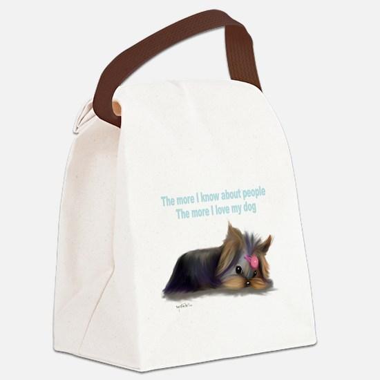 ByCatiaCho Yorkie L.Thinker Canvas Lunch Bag