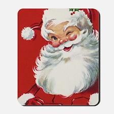 Vintage Christmas Jolly Santa Claus Mousepad