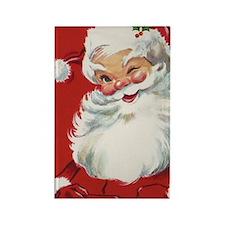 Vintage Christmas Jolly Santa Cla Rectangle Magnet