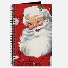 Vintage Christmas Jolly Santa Claus Journal
