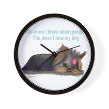 ByCatiaCho Yorkie L.Thinker Wall Clock