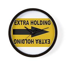 extra holding Wall Clock