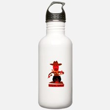 Texas chili cartoon man cooking Water Bottle