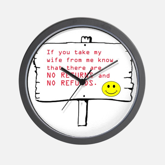 No Return Wife Wall Clock