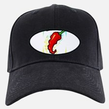 Jagged red pepper yellow blue frame Baseball Hat