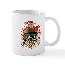 Man in Apron Chili Cookoff Graphic Mug