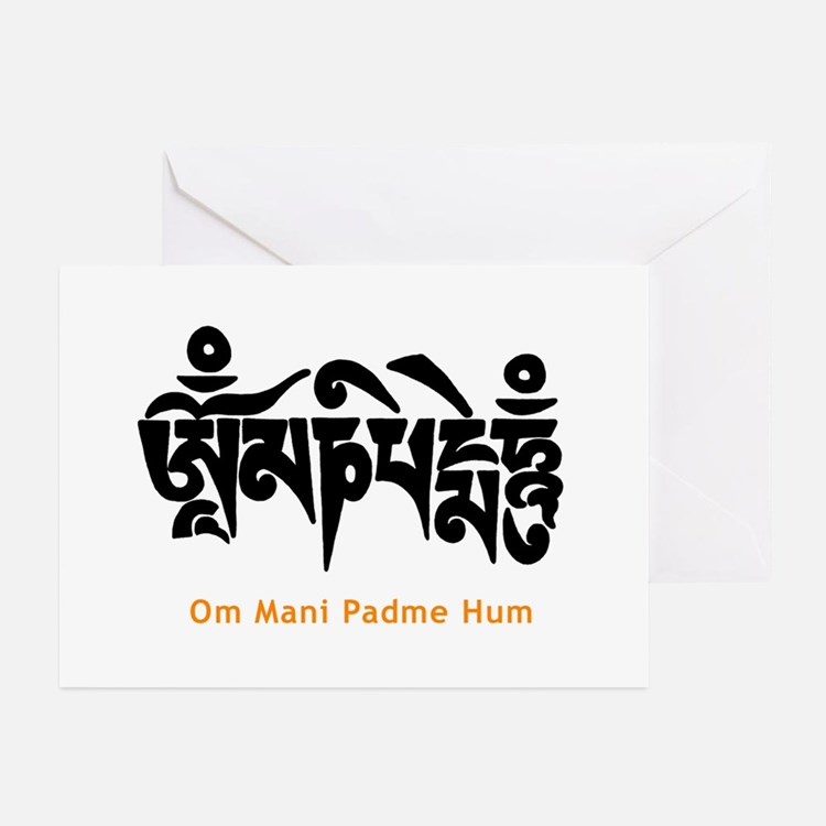 Om Mani Padme Hum Greeting Cards (6)