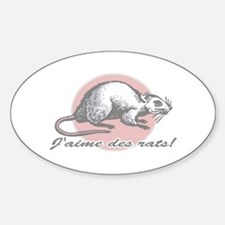 Love the Rat French Oval Decal