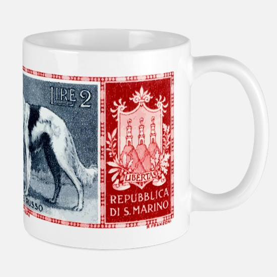 Vintage 1956 San Marino Borzoi Dog Postage Stamp M