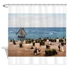 Scheveningen Strandgezicht Shower Curtain