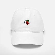 merry christmas 2 red pepper design Baseball Baseball Baseball Cap