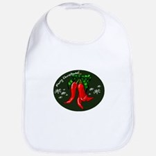 merry christmas red pepper design Bib