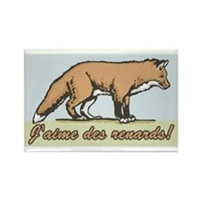 Love the Fox French Rectangle Magnet