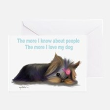 ByCatiaCho Yorkie L.Thinker Greeting Cards (Pk of