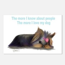ByCatiaCho Yorkie L.Thinker Postcards (Package of