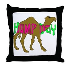 HUMP DAY with Camel Funny Wednesday Tshirt Throw P