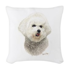 Bichon Frise Woven Throw Pillow