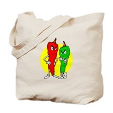 Pepper thugs red green w yellow ciricle Tote Bag