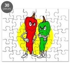 Pepper thugs red green w yellow ciricle Puzzle
