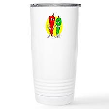 Pepper thugs red green w yellow ciricle Travel Mug