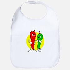 Pepper thugs red green w yellow ciricle Bib