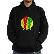 Pepper thugs red green w yellow ciricle Hoodie
