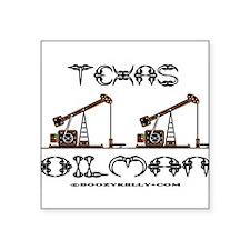 Texas Oilman Rectangle Sticker