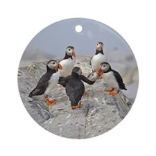 Circle of puffins Ornament (Round)