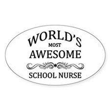 World's Most Awesome School Nurse Decal