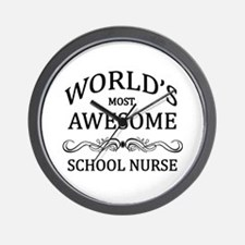 World's Most Awesome School Nurse Wall Clock