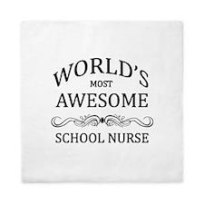 World's Most Awesome School Nurse Queen Duvet