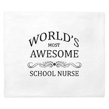 World's Most Awesome School Nurse King Duvet