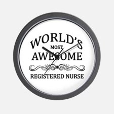 World's Most Awesome Registered Nurse Wall Clock