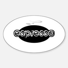 Espresso Steam Logo Rectangle Decal