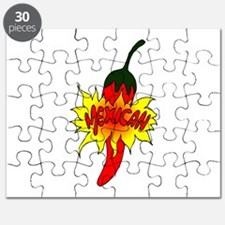 Pepper with text mexican graphic Puzzle