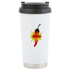 Pepper with text mexican graphic Travel Mug