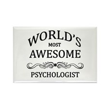 World's Most Awesome Psychologist Rectangle Magnet
