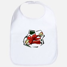 Peppers abstract square graphic Bib