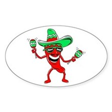 Pepper maracas sombrero sunglasses Decal