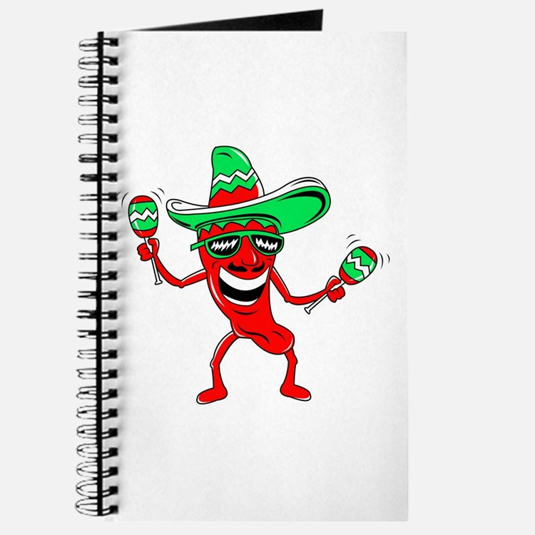 Pepper maracas sombrero sunglasses Journal