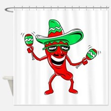 Pepper maracas sombrero sunglasses Shower Curtain