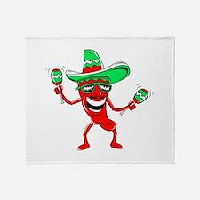 Pepper maracas sombrero sunglasses Throw Blanket