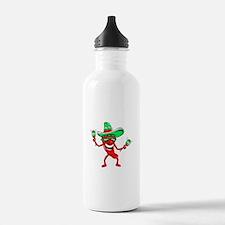 Pepper maracas sombrero sunglasses Water Bottle