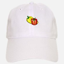 Peppers bright yellow and red graphic Baseball Baseball Baseball Cap