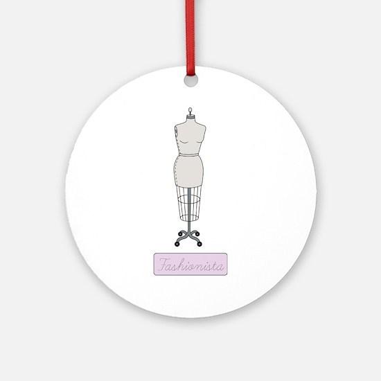 Fashionista Ornament (Round)