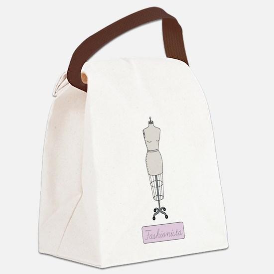 Fashionista Canvas Lunch Bag